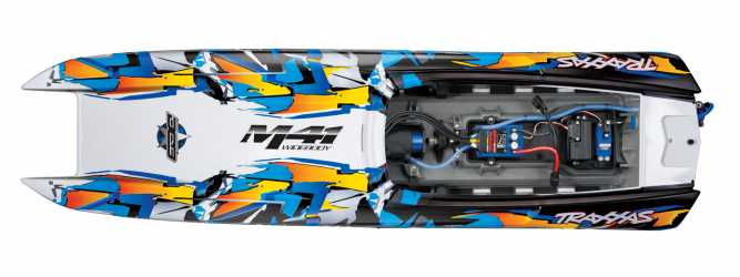 Traxxas M41 Widebody Boat (Orange)