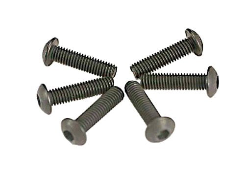 Screws, 3x12mm button-head machine (hex drive) (6)