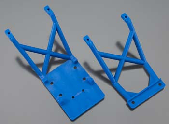 Skid plates, front & rear (Blue)