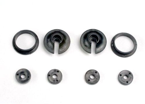 Spring retainers, upper & lower (2)/ piston head set (2-hole (2)/ 3-hole (2))