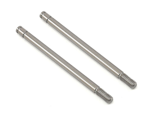 Shock shafts, steel, chrome finish (long) (2)