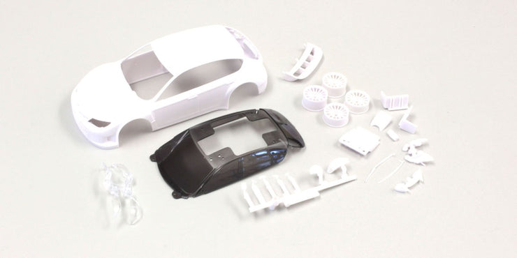 KYOSHO MINI-Z  Subaru Impreza WRC 2008 white Body set (w/Rim for AWD)