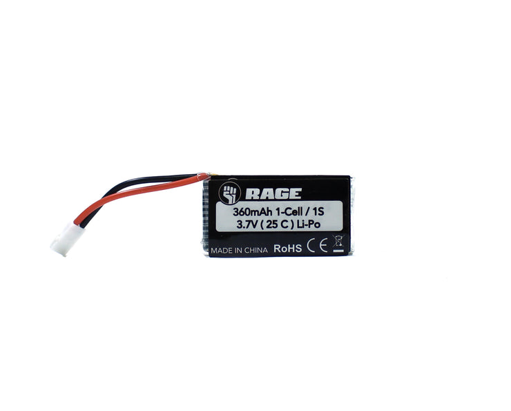 Rage 3.7v 360mAh LiPo 25c Battery