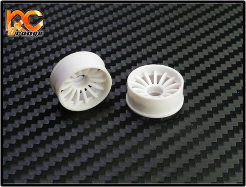 PN Racing Machine Cut 16 Spoke Front Wheels F0 White  (1 pair) 2WD