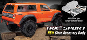 Body with camper, TRX-4® Sport (clear, trimmed, requires painting)/ window masks/ decal sheet