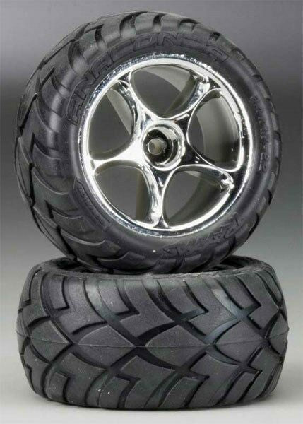 Tires & wheels, assembled (Tracer 2.2' chrome wheels, Anaconda® 2.2' tires with foam inserts) (2) (Bandit rear)