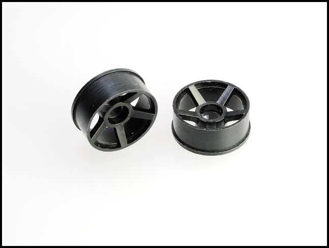 PN Racing Machine Cut 5 Spoke Front Wheels F0  Black (1 pair) 2WD
