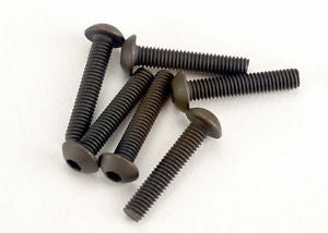 Screws, 3x15mm button-head machine (hex drive) (6)