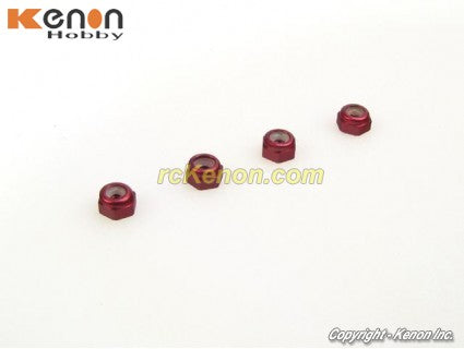 PN Racing Alu 2mm Wheel Lock Nut (Orange)
