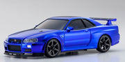 Mini-Z AutoScales Collection Skyline R34 Chrome Blue 20th Anniversary