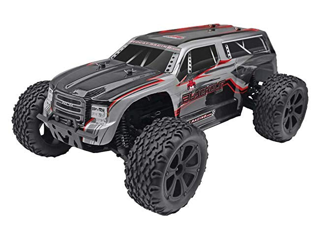 RedCat Blackout XTE 1/10 Scale Electric Monster Truck 4X4 RTR Silver SUV Body