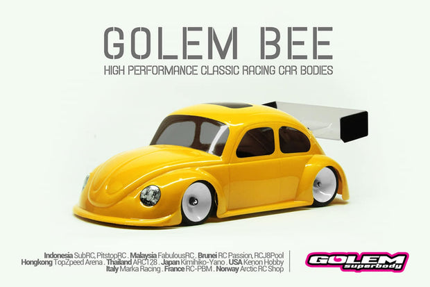 Golem Bee Mini-z 0.5mm Race Lexan Body Kit 98mm W/B
