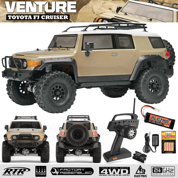HPI-Racing VENTURE TOYOTA FJ CRUISER RTR  2.4G 4WD Warter proof (sandstorm) Bonus Accessories included
