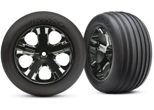 T&W All star BLk Chrm/Ribbd tires