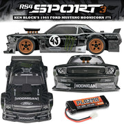 HPI-Racing RS4 SPORT3 KEN BLOCK'S 1965 FORD MUSTANG HOONICORN (RTR) 2.4G 4WD Water Proof Bonus Accessories Included