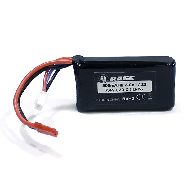 Rage 7.4V 2S 500mAh 20C LiPo Battery