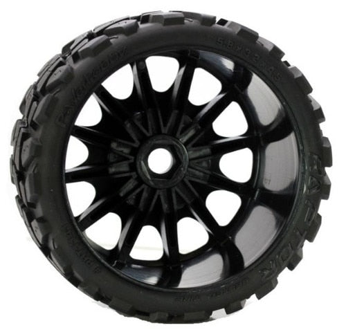 Power Hobby Raptor Belted Moster Truck Tires on Viper Wheels 17mm Hex race