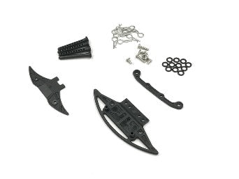 GL Racing Carbon reinforced bumper w/ body post set