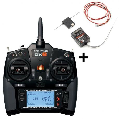 SPEKTRUM DX6 Radio DSM Includes AR6600T Receiver