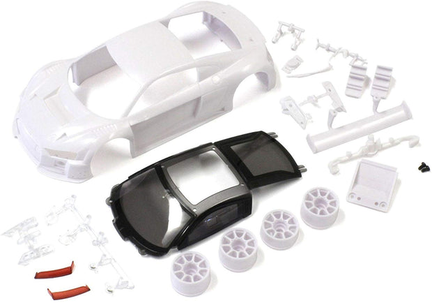 KYOSHO MINI-Z  Audi R8 LMS 2015 WHITE BODY SET (w/Rim for aRWD)