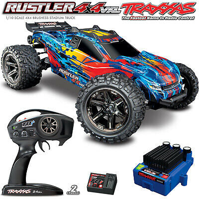 RUSTLER 4X4 VXL-RED,YELLOW