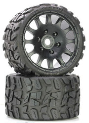 Power Hobby Raptor Belted Moster Truck Tires on Viper Wheels 17mm Hex