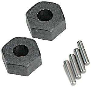 Wheel hubs, hex (2)/ stub axle pins (2)