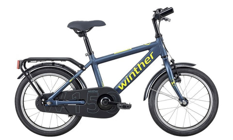 Winther 150 Boy 18' MatDarkBlue/Green drengecykel