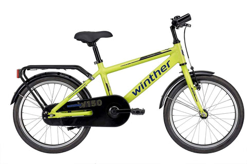 "Winther W150 Boy 18"" MatGreen drengecykel"