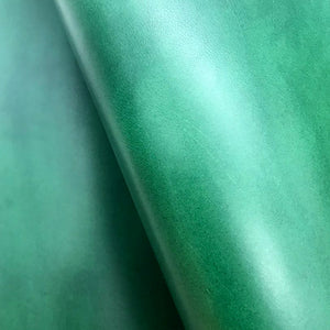 Leather Panel - Walpier Conceria - Buttero Green - Crafune Leather Craft Workshop and Starter Kits
