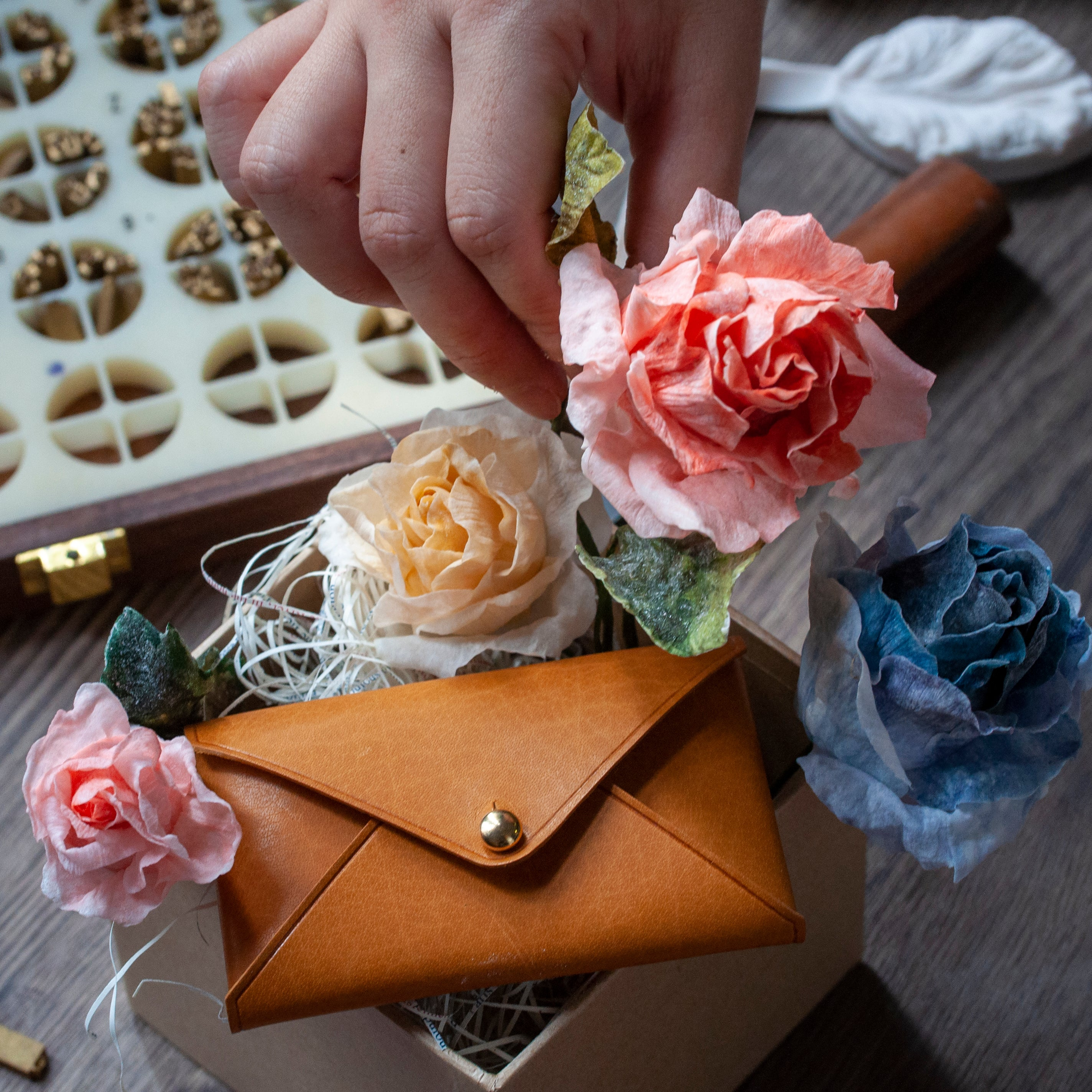 Leather Craft and Wafer Paper Flower Art - Crafune x Natalie (15th Aug, 11.15 am) - Crafune