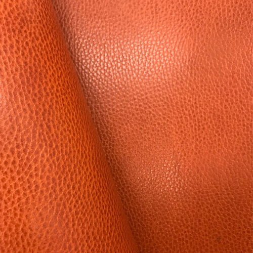 Leather Panel - Walpier Conceria - Dollaro Orange - Crafune
