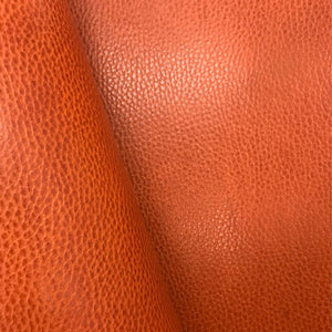 Leather Panel - Walpier Conceria - Dollaro Orange - Crafune Leather Craft Workshop and Starter Kits