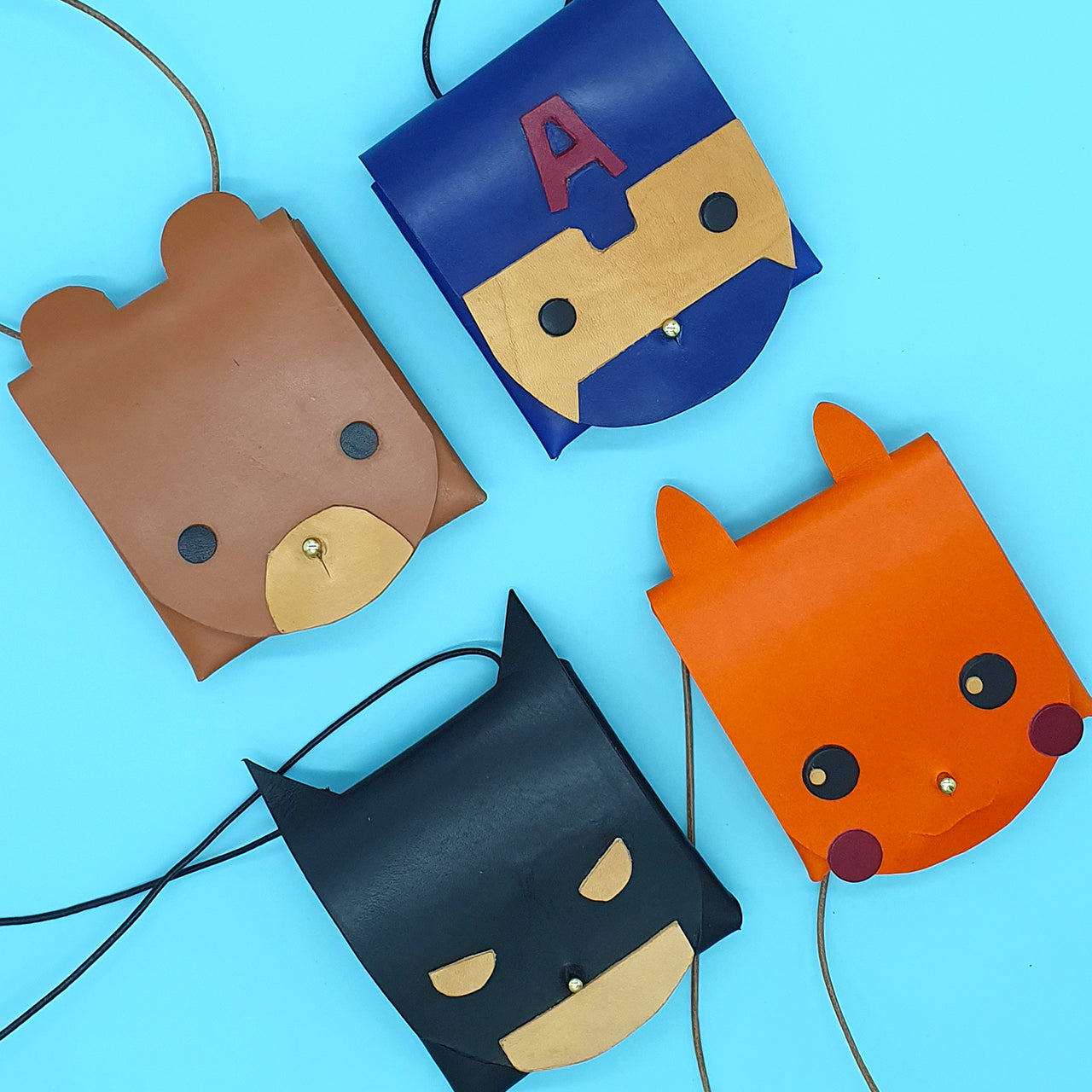 Junior Workshop: Character Pouches - Crafune Leather Craft Workshop and Starter Kits