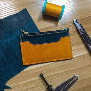Zip Cardholder Wallet - Crafune Leather Craft Workshop and Starter Kits