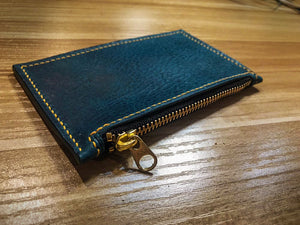 Zip Cardholder Wallet (Premium Leather) - Crafune