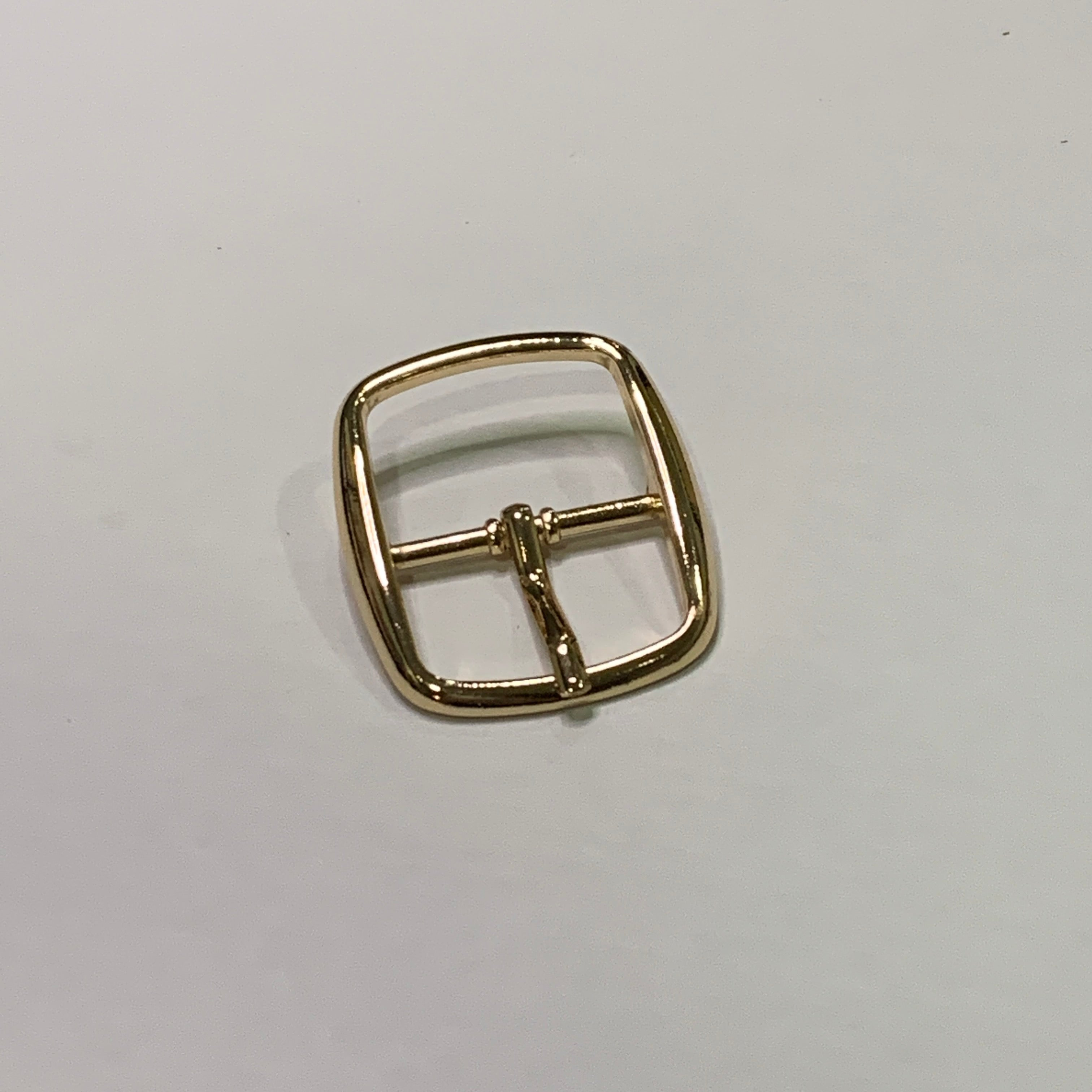 25mm Glossy Gold Centre Bar Buckle