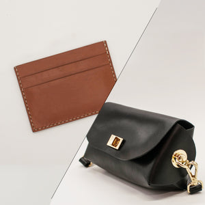 Mother's Day Workshop: Cardholder and Crossbody Bag - Crafune Leather Craft Workshop and Starter Kits