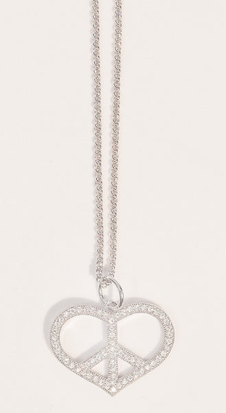 Peace & Love Heart Necklace
