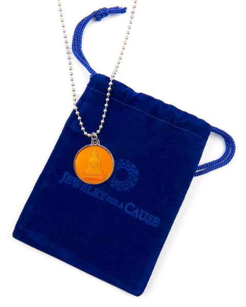 Jewelry for a Cause Orange Buddha Necklace