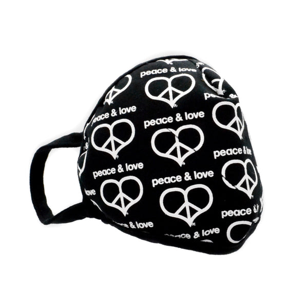 Peace & Love Logo Face Mask