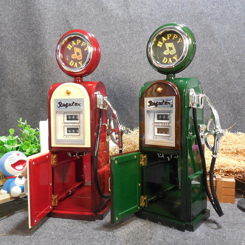 Gas pump music box