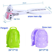 Cute Duck/ Snowman/ Penguin Snow Clip (Send Color Randomly) - Luckybudmall