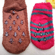 4 Pairs Cute Fuzzy Christmas Socks for Adults & Kids