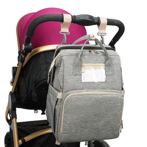 3 in 1 Diaper Backpack with Foldable Baby Bed - Luckybudmall