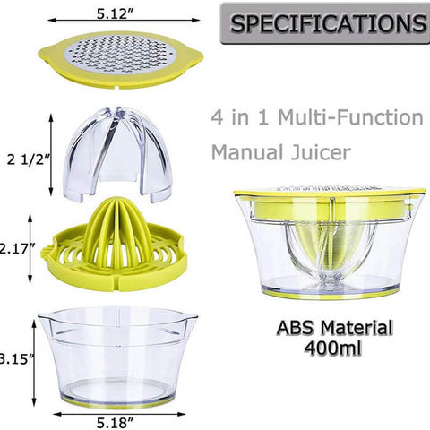 4 in 1 Multi Function Manual Juicer
