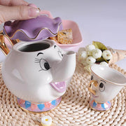 Beauty & The Beast Teapot Cup Set - Luckybudmall