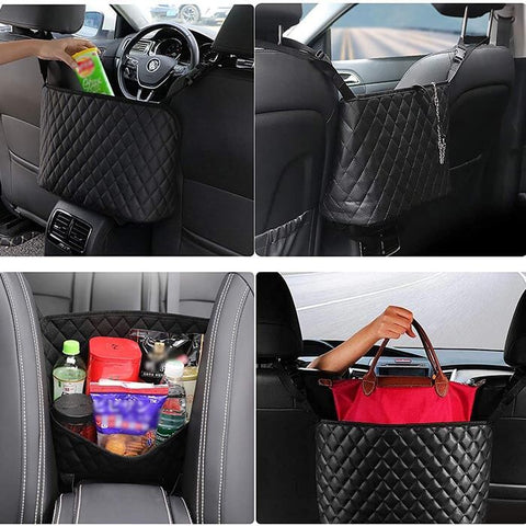Leather Car Organizer Between Seats
