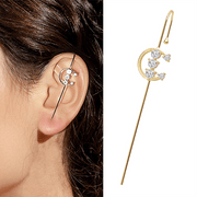Ear Cuff Crawler Piercing Hook Earring (1pc)