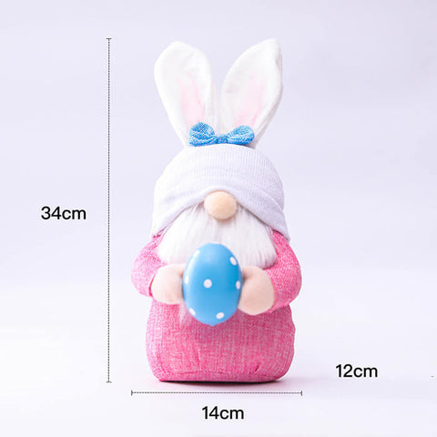 2pcs/set Bunny Gnome Dolls with Easter Eggs
